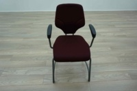 Giroflex G64 Cantilever Burghundy Office Meeting Chair - Thumb 3