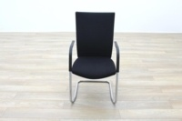 Black Fabric High Back Cantilever Office Meeting Chairs - Thumb 4