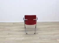 Red Fabric Meeting Chairs With Grey Frame - Thumb 5
