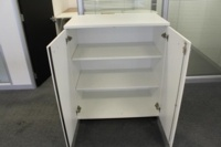 Double Door White Cupboard With Two Shelves - Thumb 3