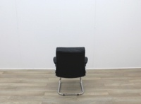Black Faux Leather Meeting Chairs With Folding Back - Thumb 5