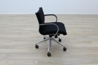 ICF Black Fabric Executive Office Task Chairs - Thumb 6