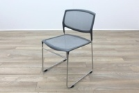 Daylight Grey Mesh Canteen Chair Made in US - Thumb 3