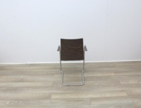 Walnut With Fabric Seat Meeting Chairs - Thumb 5