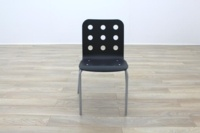 Black Wooden Office Canteen Chairs - Thumb 5