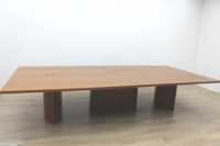 Walnut Rectangular Office Meeting Table - Thumb 2