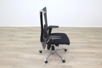HAG H09 Inspiration Black Fabric Polished Aluminium Executive Office Task Chair - Thumb 6
