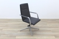 Brunner Dark Grey Leather High Back Executive Chair - Thumb 5