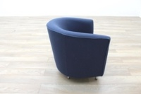 Dark Blue Fabric Office Reception Tub Chairs - Thumb 6