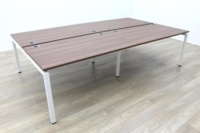 New Mobili Soho 2 Walnut Commercial Grade Office Bench Desking - Thumb 3