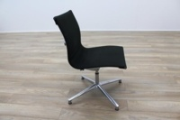 ICF UNA Executive Black Fabric Chrome Office Meeting Chairs - Thumb 4