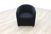 Black Fabric Office Reception Tub Chairs - Thumb 3