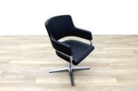 Brunner Black Leather Self Centering Executive Meeting Chair - Thumb 5