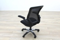 Black Fabric / Mesh Back Multifunction Office Task Chairs - Thumb 5
