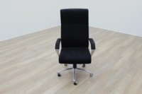 President High Back Black Fabric Executive Office Task Chair - Thumb 3