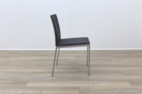 Brunner Oak Back Grey Fabric Back Meeting Chair - Thumb 6