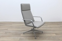 Brunner Light Grey Leather Executive Chair - Thumb 5