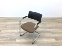 Black Back Brown Seat Meeting Chairs - Thumb 3
