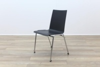 Brunner Dark Grey Chrome Frame Meeting Chair - Thumb 3
