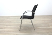 Black Fabric / Chrome Office Meeting Chairs - Thumb 6