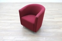 Orangebox Abbey Red Fabric Office Reception Tub Chairs - Thumb 2