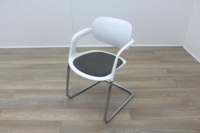 Allermuir A781 White with Grey Seat Meeting Chair - Thumb 3