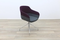 Brunner Purple and Grey Fabric Reception Tub Chair - Thumb 5