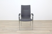 Brunner Dark Grey Leather Meeting Chair - Thumb 4