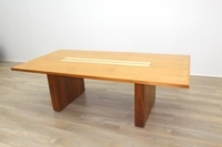 Sven Christiansen Walnut / Bird's Eye Maple Office Meeting Table - Thumb 5