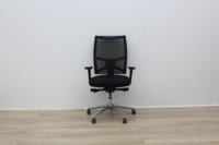 Sitland Operator Chair With Chrome Back And Chrome Legs - Thumb 2