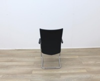 Black Stacking Meeting Chairs With Chrome Frame - Thumb 6