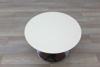 Orangebox Cream Round Coffee Table - Thumb 3