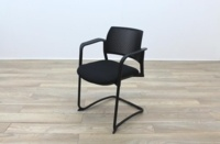 Torasen Polymer Back Black Fabric Seat - Thumb 3
