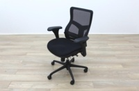 RS Pro Mesh Back Black Fabric Seat Operator Chair - Thumb 3