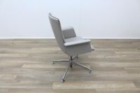Brunner Grey Leather Meeting Chair - Thumb 7