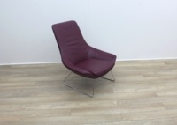 Walter Knoll Flow Armchair in Oxblood Leather - Thumb 6