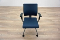Ahrend Blue Leather Office Meeting Chairs - Thumb 3