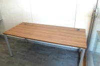 Walnut 1800mm Straight Office Desks - Thumb 4
