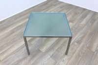 Frosted Glass Square Office Coffee Table - Thumb 2