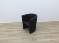 Black Faux Leather Reception Chairs - Thumb 3