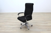 President High Back Black Fabric Executive Office Task Chair - Thumb 4