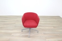 Orangebox HAY Red Fabric Office Reception Tub Chairs - Thumb 5