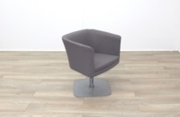 Grey Fabric Office Reception Tub Chairs - Thumb 2