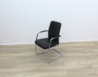 Black Leather Meeting Chairs - Thumb 3