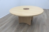 Sven Christiansen Maple Veneer Executive 1600mm Circular Office Meeting Table - Thumb 2