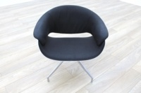 B&B Italia Sina Black Fabric White Back Office Reception Chair - Thumb 3