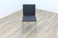 Brunner Oak Back Grey Fabric Back Meeting Chair - Thumb 2