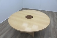 Sven Christiansen Maple Veneer Executive 1600mm Circular Office Meeting Table - Thumb 4