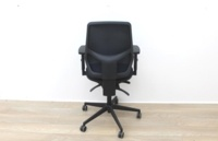Black Operator Chair With Mesh Back And Lumbar Support - Thumb 4