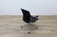 Vitra Meda Black Leather Seat Mesh Back Meeting Chair - Thumb 7